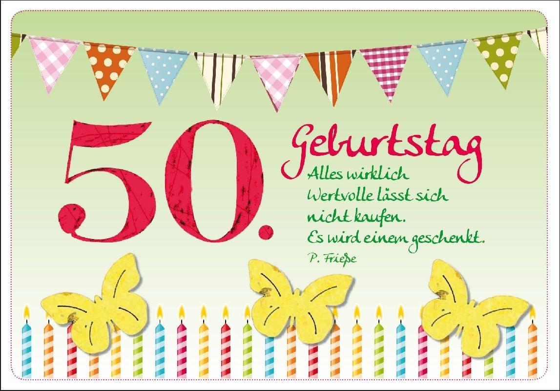 50. Geburtstag - Faltkarte, 2,99