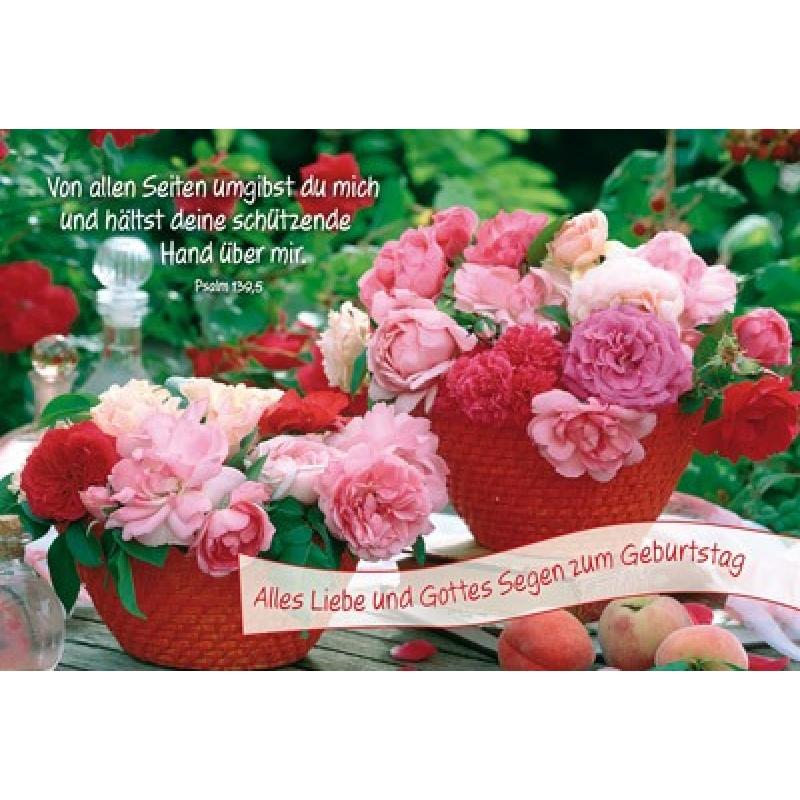 Faltkarte Alles Liebe Gottes Segen zum Geburtstag