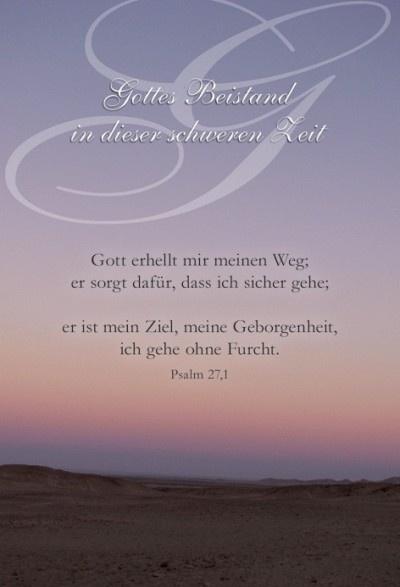 Trauer Psalm