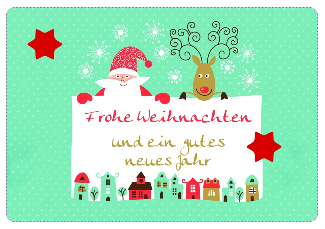 frohe weihnachten und ein gutes neues jahr faltkarte 2 99. Black Bedroom Furniture Sets. Home Design Ideas