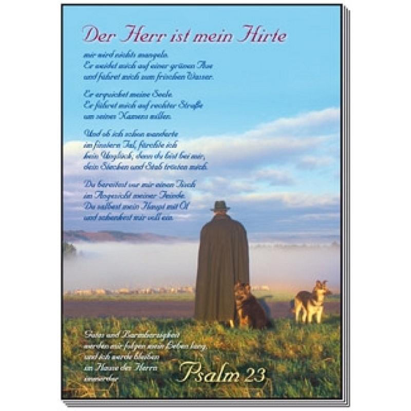 Der Herr Ist Mein Hirte Psalm 23