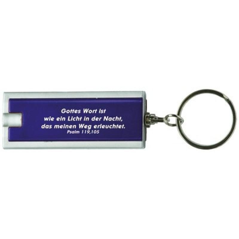 Schlüsselanhänger LED-Lampe \'Gottes Wort ist wie ein Licht\'