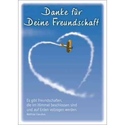 Postkarten: Danke für deine Freundschaft, 12 Stück, 9,60 &e